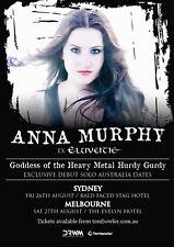 ANNA MURPHY 2016 AUSTRALIA CONCERT TOUR POSTER-Folk/Celtic Metal Music,Eluveitie