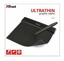 TRUST 21259 Ultra Sottili 100mm x 140mm ELEGANTE NERO GRAFICA FLEX DESIGN TABLET