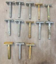 18 Vintage Gillette Razors Lot
