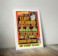 More details for the cliff richard show reproduction concert poster print london palladium
