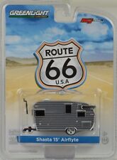 Shasta 15 Airflyte Roulotte Campeggio argento Route 66 1:64 Greenlight