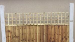 6x1 Heavy Duty Privacy Squared Trellis Fence Topper Lattice TREATED Wood RRP £18
