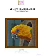 YELLOW HEADED PARROT - cross stitch chart