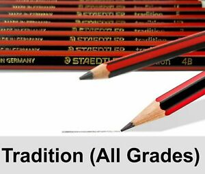 Staedtler Tradition Pencils Sketching - 6B 5B 4B 3B 2B B HB F H 2H 3H 4H