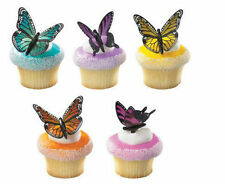 Butterfly Colorful Butterflies cupcake picks (12) favor cake topper 1 doz