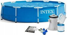 INTEX Garten Swimming-Pool 305x76cm Metallrahmen Schwimmbecken +Filterpumpe /TOP