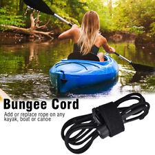 Elastic Bungee Cord Kayak Paddle Fishing Leash Boat Rope Lanyard Accessory Black