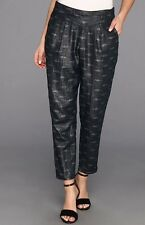 Free People Printed Easy Pleat Pant Deep Navy Combo Small NWT $98
