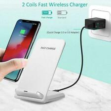 Qi Wireless Charger Charging Pad For Iphone Samsung Holder Phone Mobile V3Z9