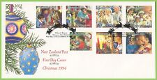 New Zealand 1994 Christmas set on First Day Cover
