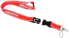 Abarth Red Lanyard Key Holder Pass ID Holder Genuine 6002350221