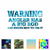 Angler Big Rod Fishing - Decal Sticker - Multiple Patterns & Sizes - ebn1725