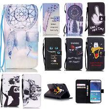 Handy Hülle für Samsung Case Motiv Tasche Schutz Cover Wallet Flip Etui Silikon