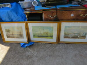 3x  frederick garling limited edition prints 1976