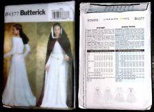 Cartamodello di un abito con mantello donna Medievale