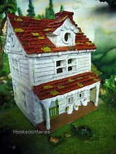 Gingerbread and Chicken Farm House GO 17587 Miniature Fairy Garden Dollhouse