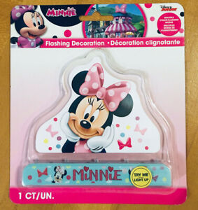 Disney Junior Minnie Mouse Flashing Decoration - Multiple Color - Flashing Modes