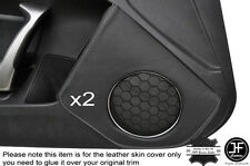 GREY STICH 2X DOOR SPEAKER TRIM LEATHER COVER FOR TOYOTA GT86 SUBARU BRZ 12-16
