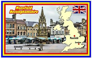 MANSFIELD, NOTTS - SOUVENIR NOVELTY FRIDGE MAGNET - SIGHTS / GIFTS / FLAG / NEW