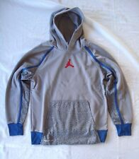 Nike Gray Boy's Jordan Jumpman Therma-Fit Pullover Hoodie NEW Size s (8-10 yrs)