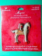 Vintage Hallmark Bear On A Pony Christmas Lapel Pin Nip Xpf4226 (C251)