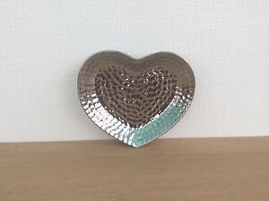 Silver Dimpled Heart Dish