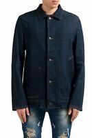 Jil Sander Men's Four Button Blue Denim Blazer Sport Coat US 42 IT 52
