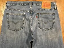LEVIS 514 SLIM STRAIGHT JEANS HAND MEASURED SIZE 34 x 33 Tag 34 x 34 BEST E65