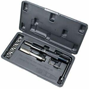 FLYPIG 5x14mm Carbon Steel Spark Plug Re-thread Repair Tool Tap Reamer Inserts Kit