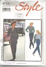 Style Sewing Pattern 1785, Lined Jacket and Trousers, Size 8 - 18, Uncut