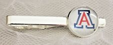University Of Arizona Tie Clip Made From Football Trading Cards Upcycled