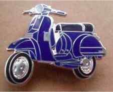 VESPA PX SCOOTER blu e argento smalto pin badge