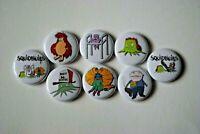 "Squidbillies Cartoon show Buttons Pins 1 Inch Badge Lot 1"" Early Cuyler Rusty"
