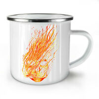 Fire Horror Biker Skull NEW Enamel Tea Mug 10 oz | Wellcoda