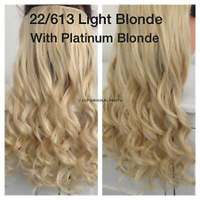 Clip in Hair Extension Piece. One piece, Full Head. Synthetic, Real Hair Look