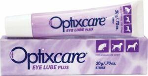 Optixcare Pet Eye Lube Plus Hyaluron 20g for Dog Cat Horses
