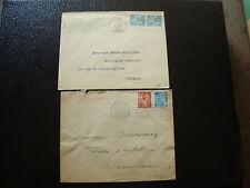 FRANCE - 2 enveloppes 1945  (cy13) french
