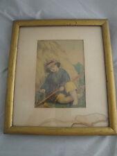 1869 LITTLE BOY BLUE Aunt Millie ART PRINT SUPER RARE! From original Drawing