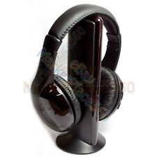 5 In 1 Cordless Headset Wireless Headphone FM Radio Transmitter For MP3 Music TV