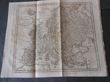1800 BEAUTIFUL ENGRAVING MAP OF THE EUROPE ENGRAVER J.RUSSELL