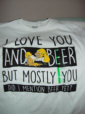 The Simpsons I Love You & Beer But Mostly You Did I mention T-Shirt Size Small