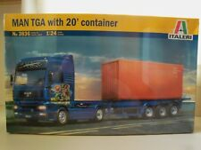 ITALERI - MAN TGA SEMI TRUCK WITH 20' CONTAINER AND TRAILER - MODEL KIT (SEALED)
