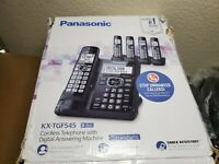 Panasonic DECT 6.0 Cordless Phone w/ Answering System Call Block and 5 Handsets