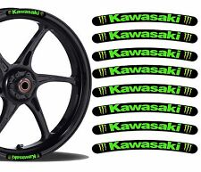 8 KAWASAKI NINJA MONSTER WHEEL RIM VINYL STICKERS STRIPES MOTO CAR MOTORCYCLE R4