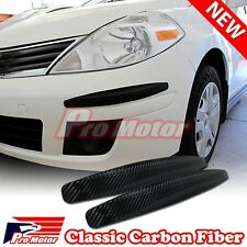 2x Carbon Fiber Bumper Corner Protector Guard Scratch Sticker Strip Decoration