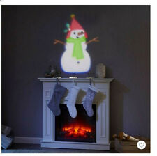 Philips Christmas Battery Operated LED Snowman Projector Cool White NIB