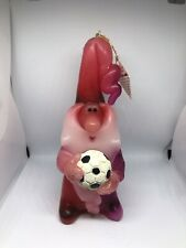 Northern Lights Wee Wizard Candle; Red Wizard With Soccer Ball 7�
