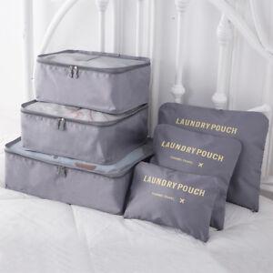 KONO 6pcs Travel Luggage Organizer Bag Cube Storage Clothes Underwear Packing