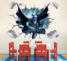 Batman 3D Wall Sticker Baby Kids Room Stickers Cartoon Decals Home Decor