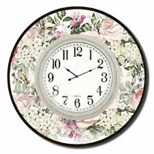 Clocks French Country Vintage Wall Hanging 60cm ENGLISH ROSE Large Floral Clo...